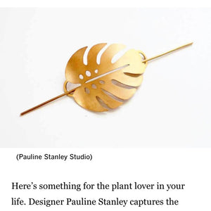 Monstera Leaf Hair Pin Featured on LA Times Gift Guide