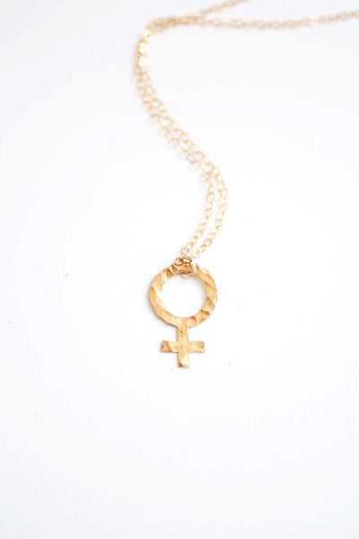 Female Sign Feminist Necklace