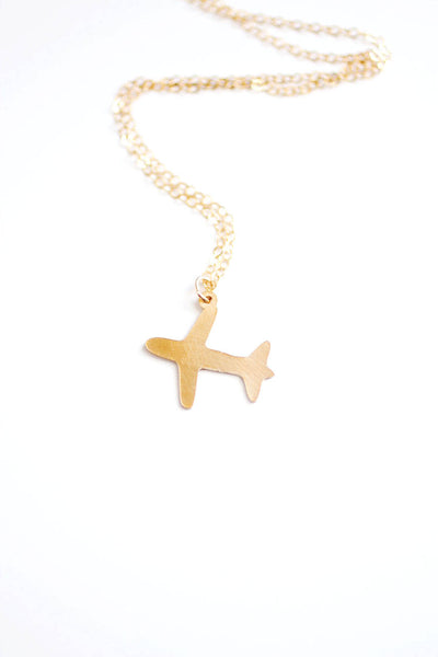 Tiny Airplane Necklace | Plane Necklace | Travel Necklace | Travel Jewelry | Airplane Jewelry | Gold Airplane Necklace |  Silver Airplane