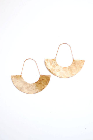 Hammered Half Moon Earrings | Gold Hoop Earrings | Silver Hoops | Gold Half Moon Earrings | Brass Earrings | Gold Filled Earrings