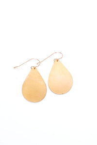 Minimalist Teardrop Earrings | Brass Earrings | 14k Gold Fill Earrings | Sterling Silver Earrings | Drop Earrings