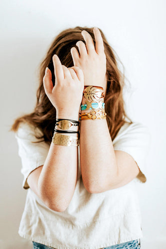 Brass Suede Leather Wrap Bracelet