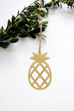Load image into Gallery viewer, Pineapple Ornament | Metal Ornament | Brass Ornament | Steel Ornament | Tree Ornament | Christmas Stocking Stuffer | Pineapple Decor