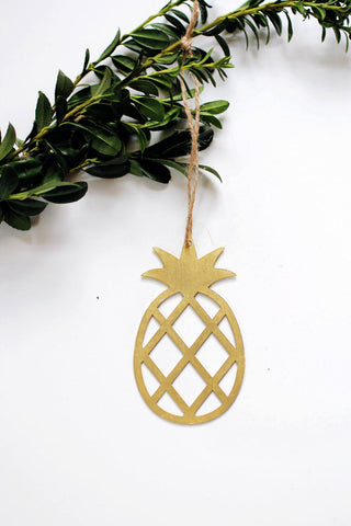Pineapple Ornament | Metal Ornament | Brass Ornament | Steel Ornament | Tree Ornament | Christmas Stocking Stuffer | Pineapple Decor
