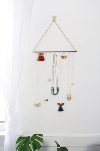 Minimalist Copper Rope Jewelry Organizer