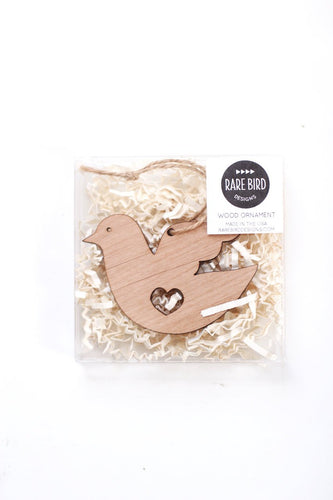 Dove Heart Ornament | Dove Ornament | Brass Ornament | Steel Ornament | Wood Ornament | Tree Ornament | Christmas Stocking Stuffer