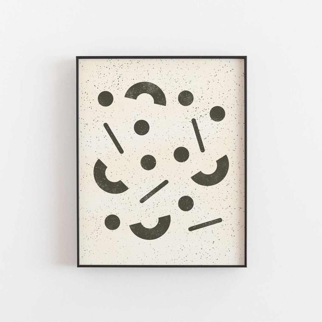 Jumble Wall Art Print - Black | Modern Wall Art | Abstract Art Print | Geometric Art Print | Minimalist Art | Black Art | 5x7 8x10 11x14