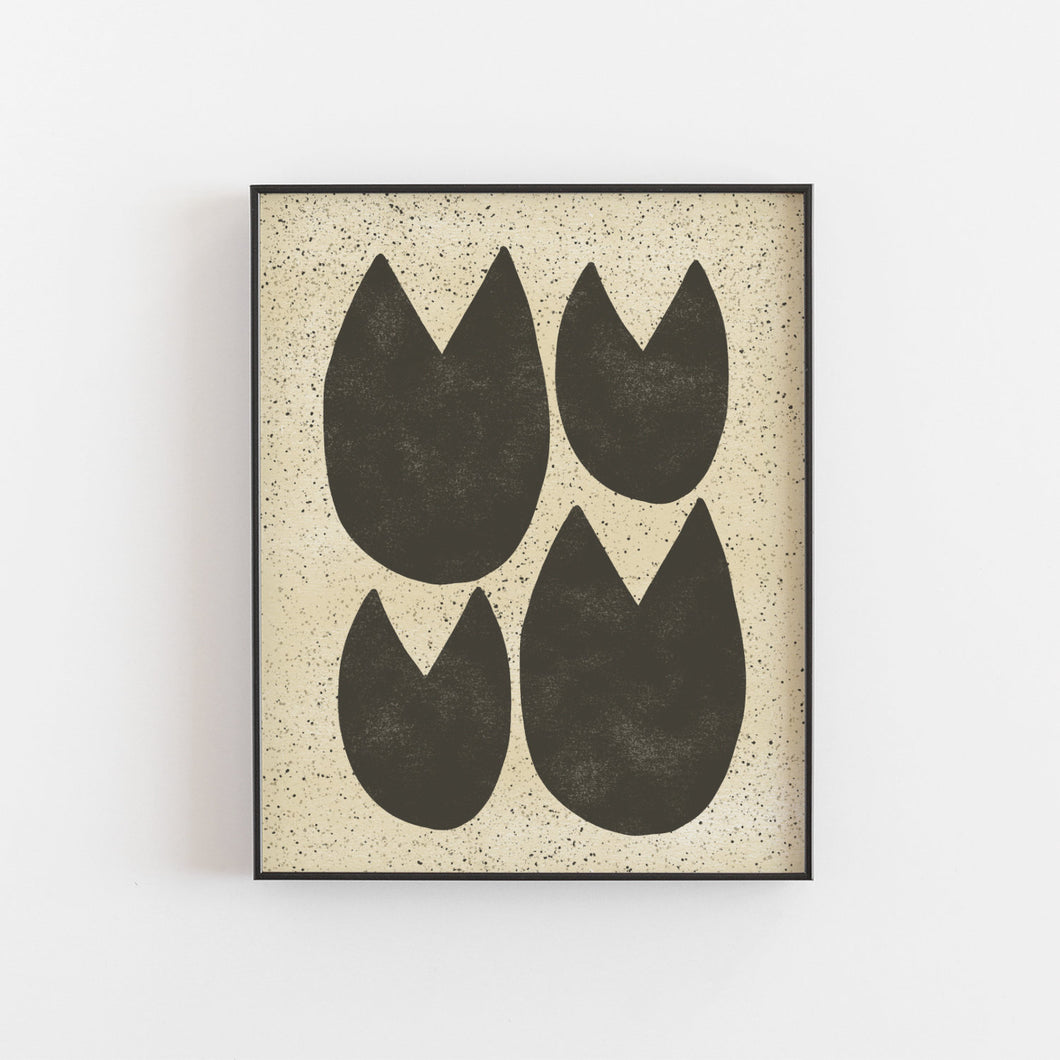Lilly Pad Abstract Art Print | Abstract Wall Art | Plant Art | Matisse Art | Modern Art | Minimalist Art | 5x7 8x10 11x14 16x20