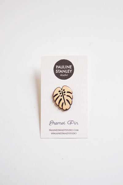 Monstera Enamel Pin | Monstera Pin | Monstera Leaf Pin | Leaf Lapel Pin | Leaf Enamel Pin | Nature Pin | Monstera Lapel | House Plant Pin
