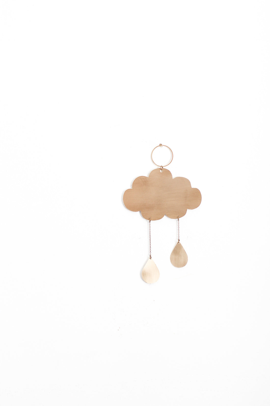 Rain Cloud Mini Wall Hanging | Copper Wall Hanging | Brass Wall Hanging | Wall Decor | Home Decor | Metal Wall Hanging | Nursery Wall Decor