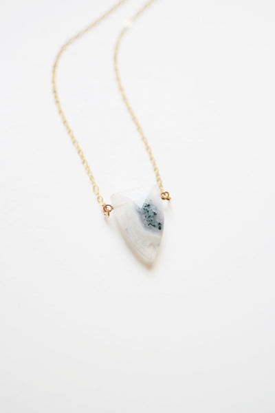 Triangle Spear Solar Quartz Necklace | Solar Quartz Jewelry | 14k Gold Fill Necklace | Sterling Silver | Gemstone Necklace | Stone Necklace