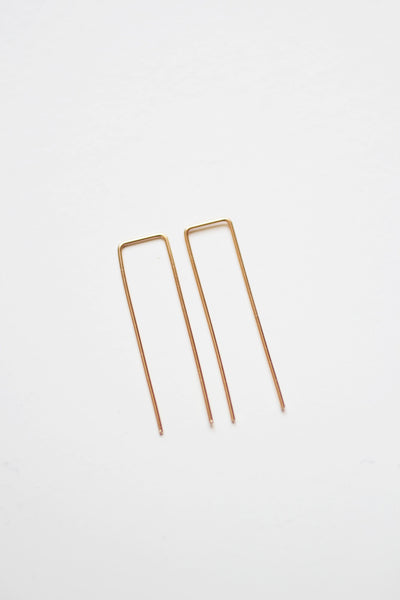 Square Minimalist Wire Earrings | Modern Earrings | Minimalist Earrings | Geometric Jewelry | Gold Fill Earrings | Sterling Silver Earrings