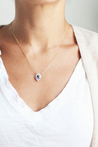Hexagon Moonstone Necklace | Moonstone Jewelry | 14k Gold Fill Necklace | Sterling Silver | Gemstone Necklace | Stone Necklace