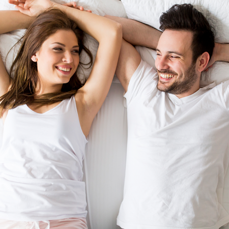 couple enjoying free from neck pain
