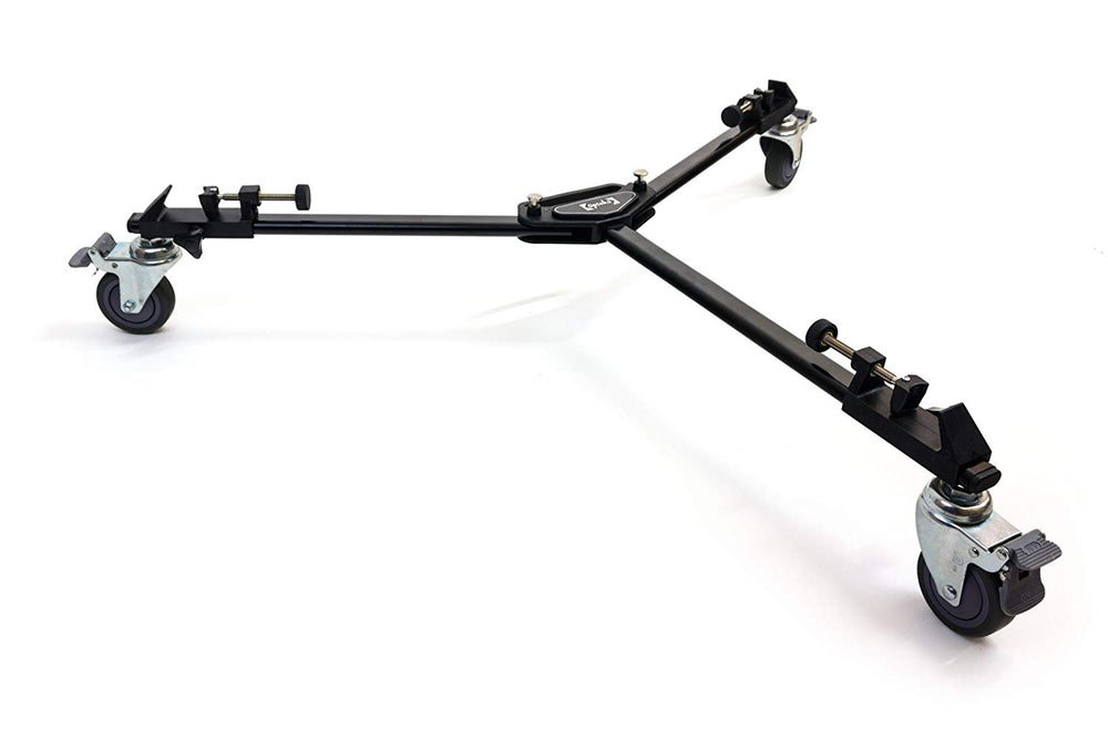Opteka M3 Professional Heavy Duty Folding Tripod Dolly with Case for Photo and Video Cameras