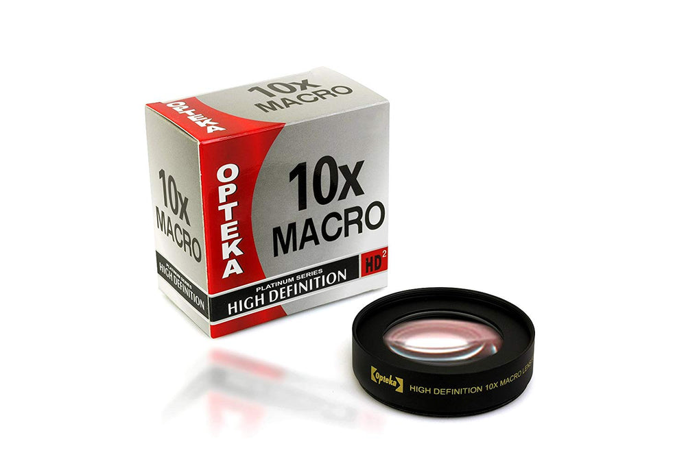 Opteka Achromatic 10x Diopter Close-Up Macro Lens for Sony E-Mount a7r, a7s, a7, a6300, a6000, a5100, a5000, a3000, NEX-7, 6, 5T, 5N, 5R Digital Cameras (Fits 40.5mm, 49mm and 58mm Threaded Lenses)