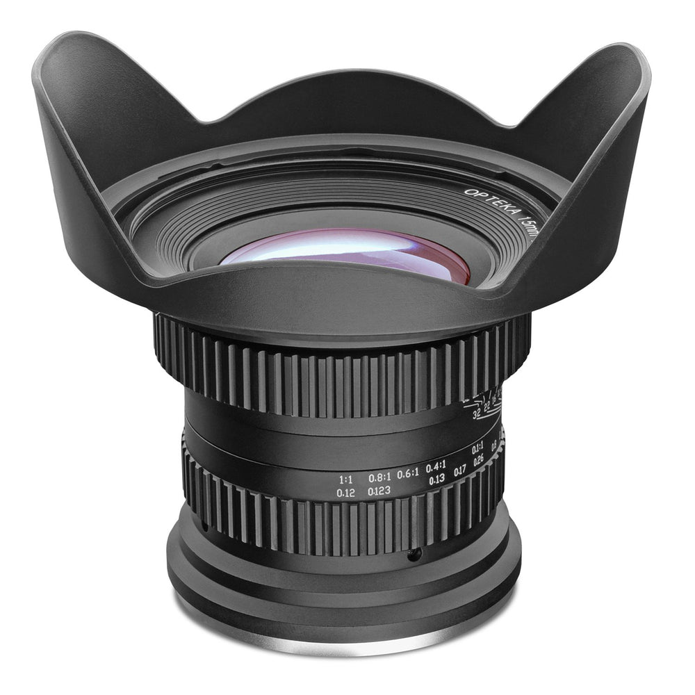 Opteka 15mm f/4 LD UNC AL 1:1 Macro Wide Angle Lens for Canon EF