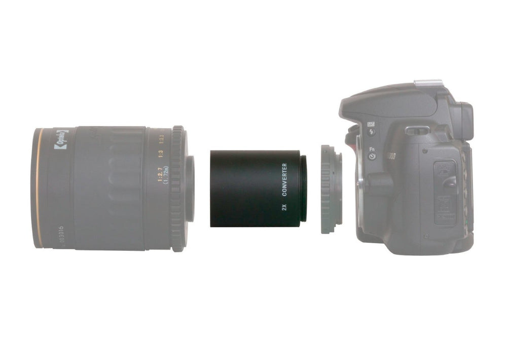 Opteka High Definition 2X Telephoto Converter for Opteka 650-1300mm, 500mm and 420-800mm SLR Lenses