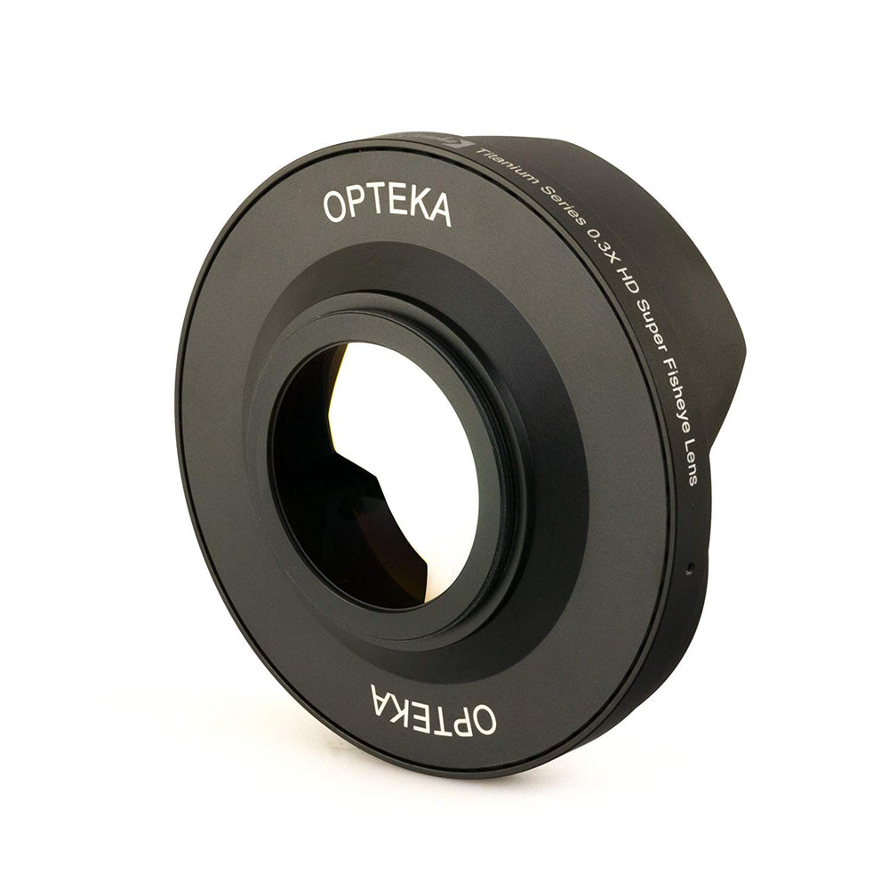 Opteka OPT-SC62FE Titanium Series 62mm 0.3X HD Super Fisheye Lens for Professional Video Camcorders