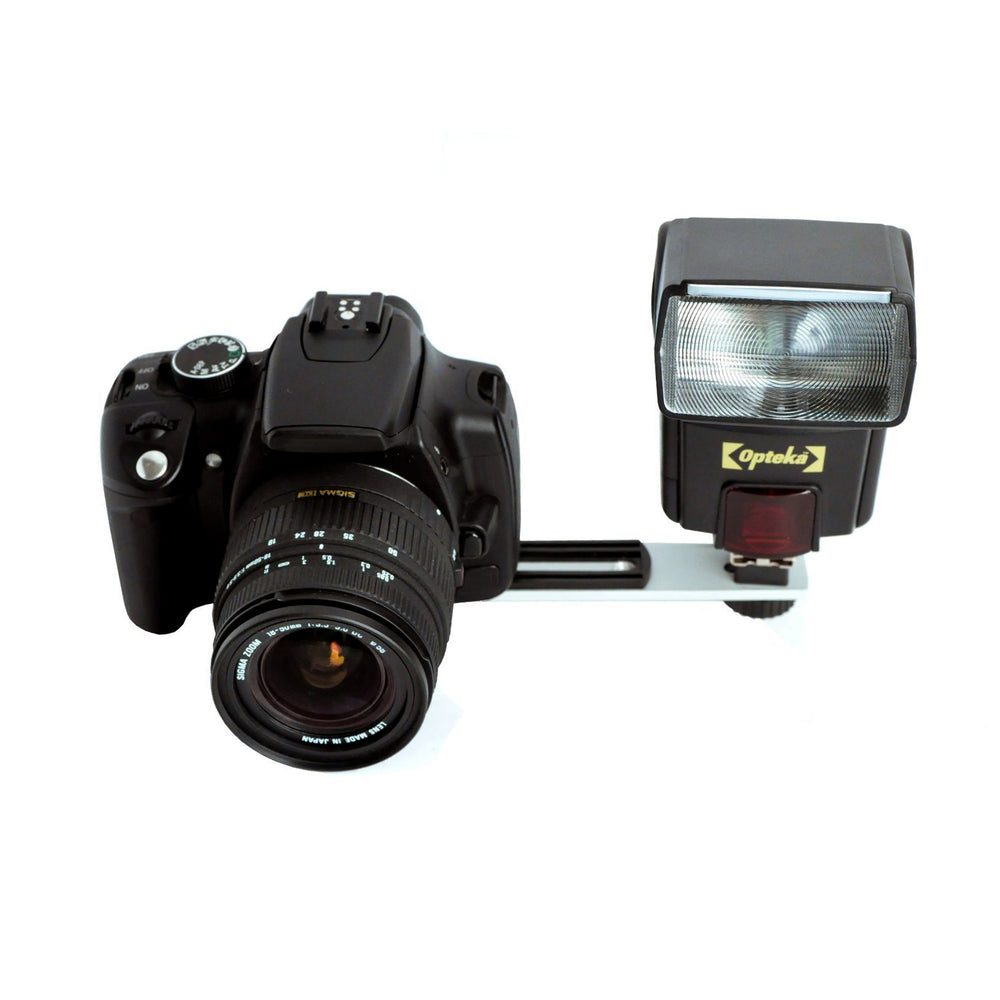 Opteka Straight Metal Flash Bracket for Compact Digital & Film Cameras