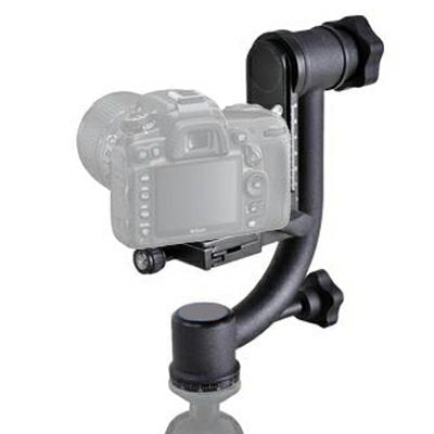 Opteka GH1 Professional Heavy Duty Metal Gimbal Tripod Head with Arca-Swiss Standard Quick Release Plate (Supports up to 30lbs)