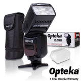 Opteka IF-980 E-TTL AF Dedicated Flash w Bounce, Zoom, Tilt, LCD Display (Canon)