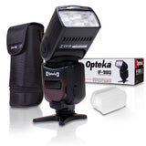 Opteka IF-980 E-TTL AF Dedicated Flash w Bounce, Zoom, Tilt, LCD Display (Nikon)
