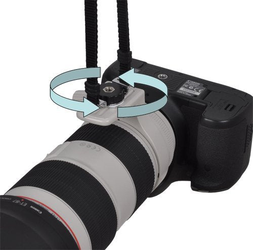 Opteka NS-7 Tripod Mounted Swivel Camera Neck Strap System for DSLR Cameras (Black)