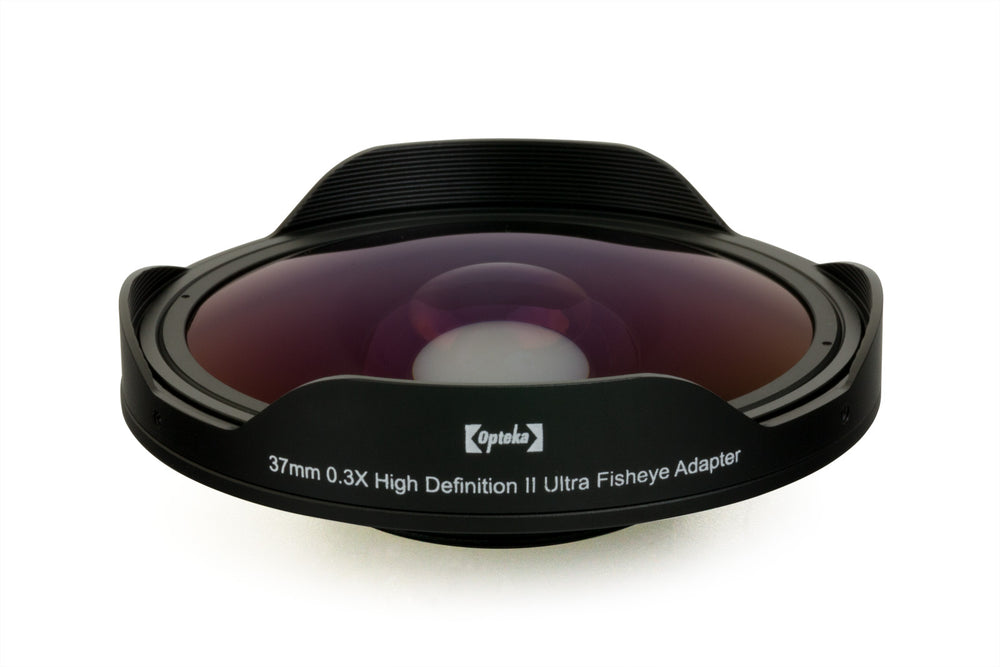 Opteka 37mm 0.3X High Definition II Ultra Fisheye  Lens for 25mm, 30mm, 30.5mm & 37mm Digital Video Camcorders