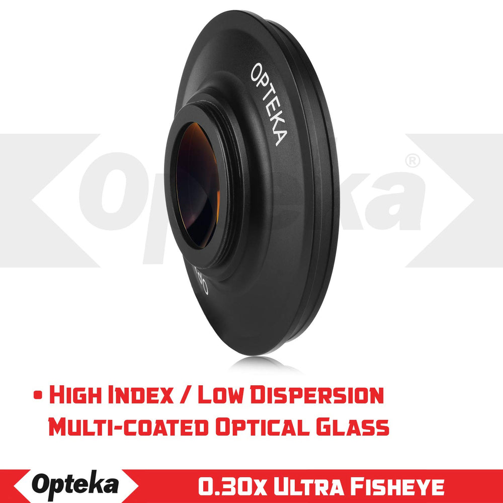 Opteka Platinum Series 43mm 0.3X HD Ultra Fisheye Lens for Digital Video Camcorders (43mm Mount)