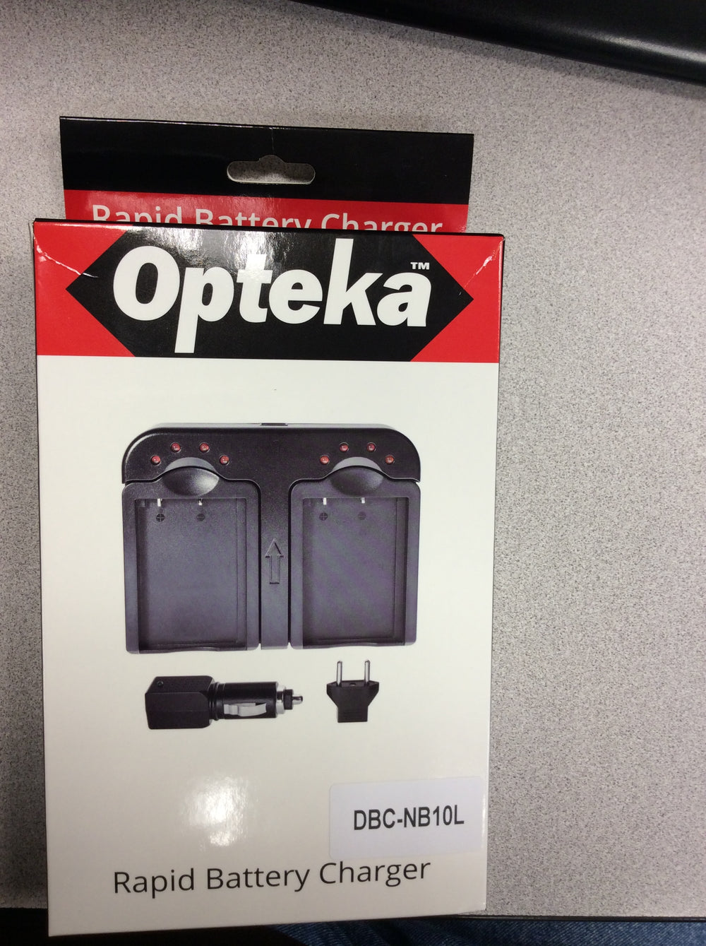 Opteka DBC-NB10L AC/DC Dual Battery Rapid Charger for Canon NB10L Batteries