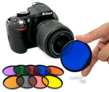 Opteka 72mm 9 Piece HD Multicoated Solid Color Filter Kit Set