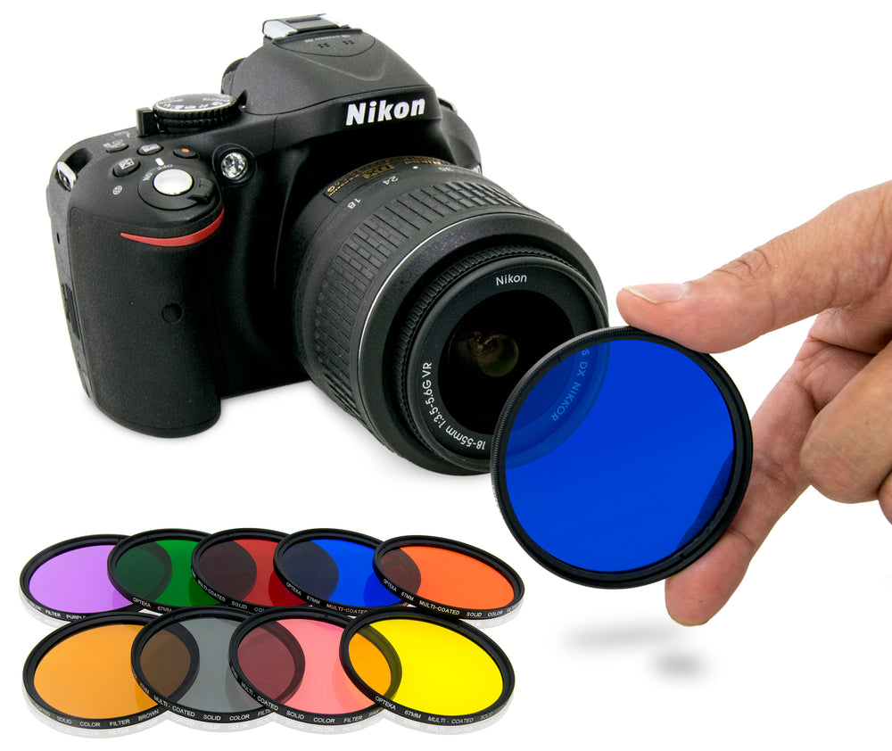Opteka 77mm 9 Piece HD Multicoated Solid Color Filter Kit Set