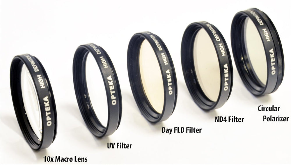 Opteka 34mm High Definition² Professional 5 Piece Filter Kit includes UV, CPL, ND4