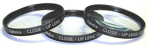 Opteka 67mm Close-Up Set (+1, +2, and +4) with 10x Macro Lens for Nikon DF, D4, D3X, D3, D800, D700, D6100, D300S, D90, D7100, D7000, D5300, D5200, D5100, D5000, D3200 and D3100 Digital SLR Cameras