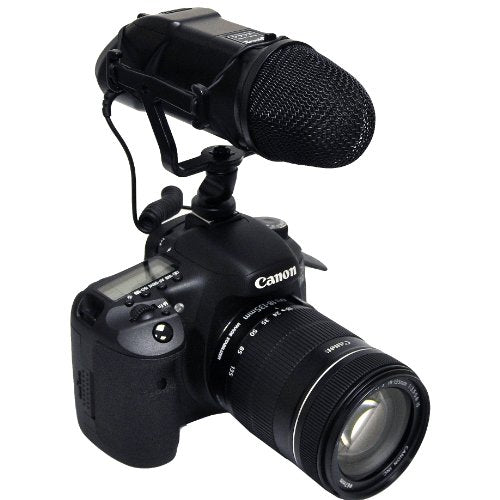 Opteka VM-200 Video Condenser Stereo Shotgun Microphone for Digital SLR Cameras & Camcorders