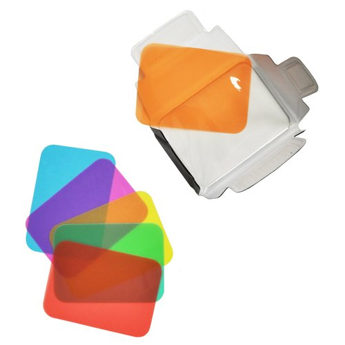 Opteka SB-110 Universal Gel Softbox Diffuser for External Camera Flash Units - Blue/Green/Red/Yellow/Amber/Pink Gels