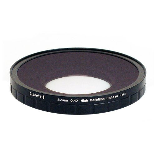 Opteka 82mm 0.4X HD2 Large Element Fisheye Lens for Professional Video Camcorders