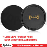 Opteka Achromatic 10x Diopter Close-Up Macro Lens for Nikon 1 J5, J4, J3, J2, S2, S1, V3, V2, V1 and AW1 Compact Mirrorless Digital Cameras (Fits 40.5mm and 52mm Threaded Lenses)