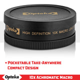 Opteka Achromatic 10x Diopter Close-Up Macro Lens for Canon EOS-M/EOS-M3 Compact Digital Mirrorless Cameras (Fits 43mm and 52mm Threaded Lenses)