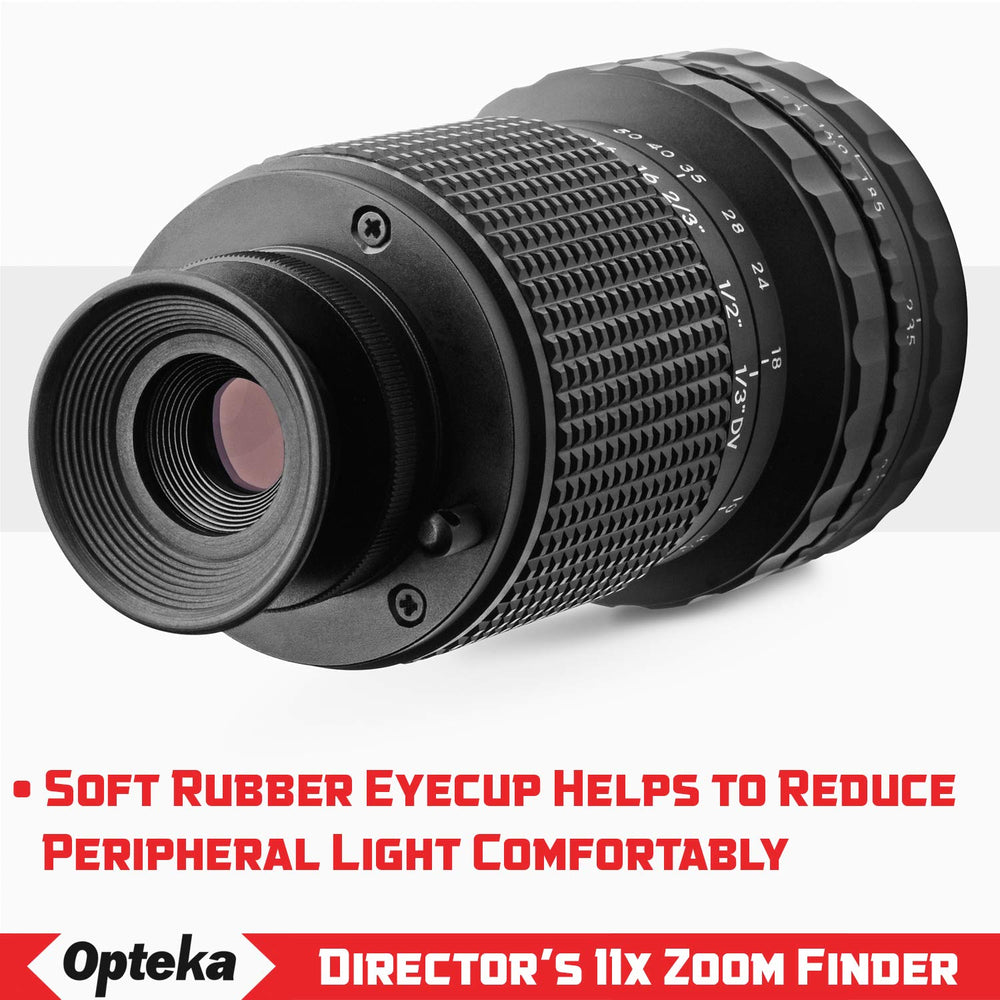 Opteka Full Size Professional Director's Metal HD Viewfinder with 11x Zoom