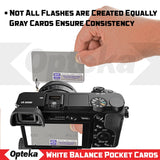 Opteka Pocket-Sized Reference Color & White Balance Grey Card Set With Quick-Release Neck Strap for Digital Photography