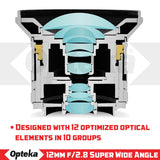 Opteka 12mm f/2.8 HD MC Manual Focus Prime Wide Angle Lens for Sony E