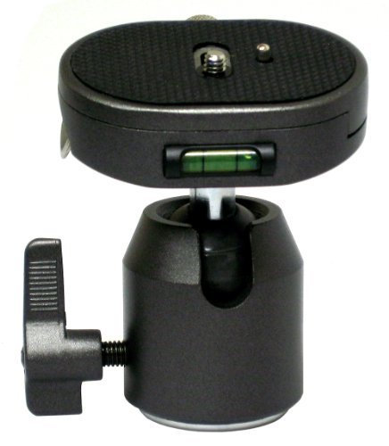 Opteka TH30 Ball Head with Quick Release Plate for Tripods and Monopods