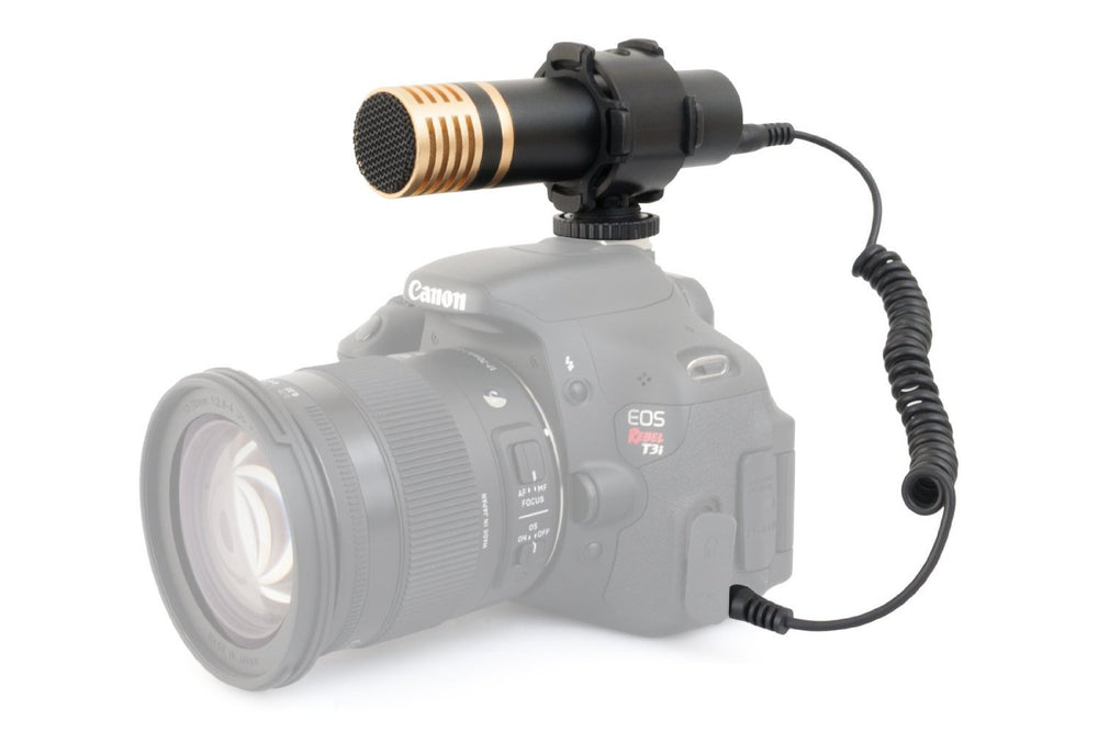 Opteka VM-3000 Stereo Video Shotgun Microphone for Digital SLR Cameras/Camcorder