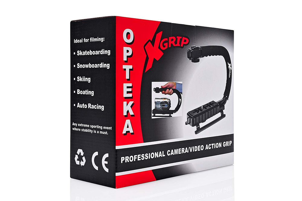 Opteka X-GRIP Professional Camera / Camcorder Action Stabilizing Handle (Red)