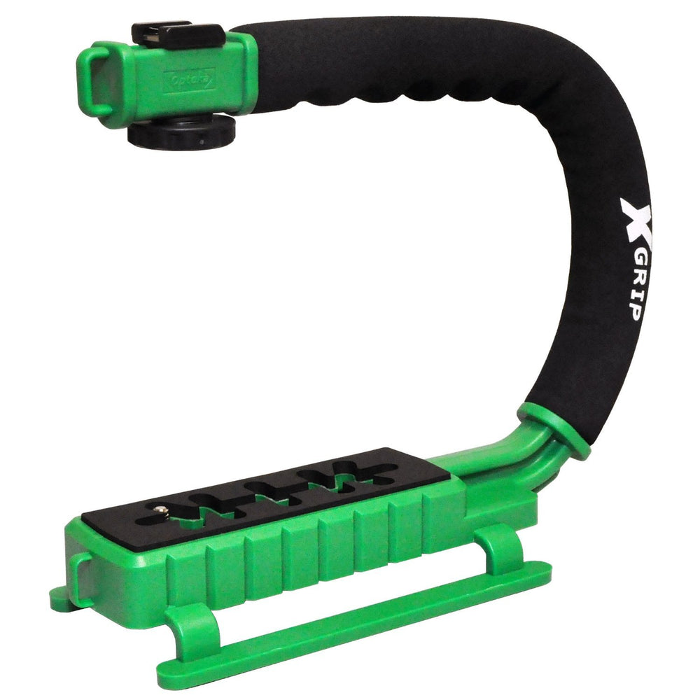 Opteka X-GRIP Professional Camera / Camcorder Action Stabilizing Handle (Green)