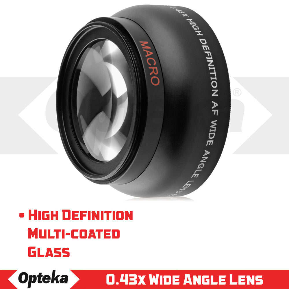 Opteka 52mm 0.43X HD Wide Angle Lens with Macro