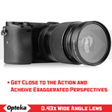 Opteka 58mm 0.43X HD Wide Angle Lens with Macro