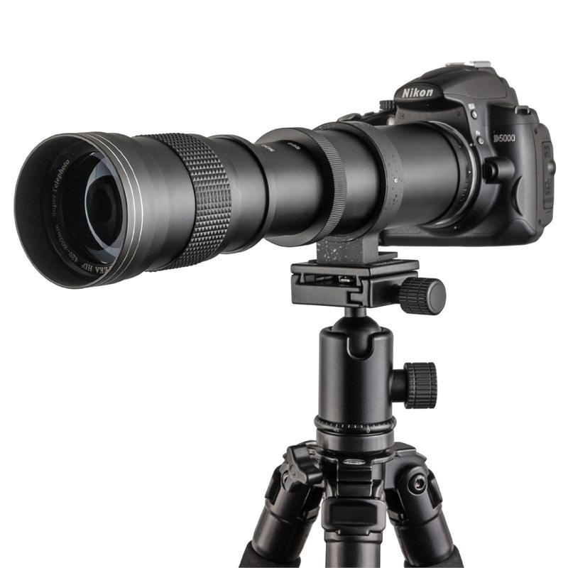 Opteka 420-800mm f/8.3 HD Telephoto Zoom Lens